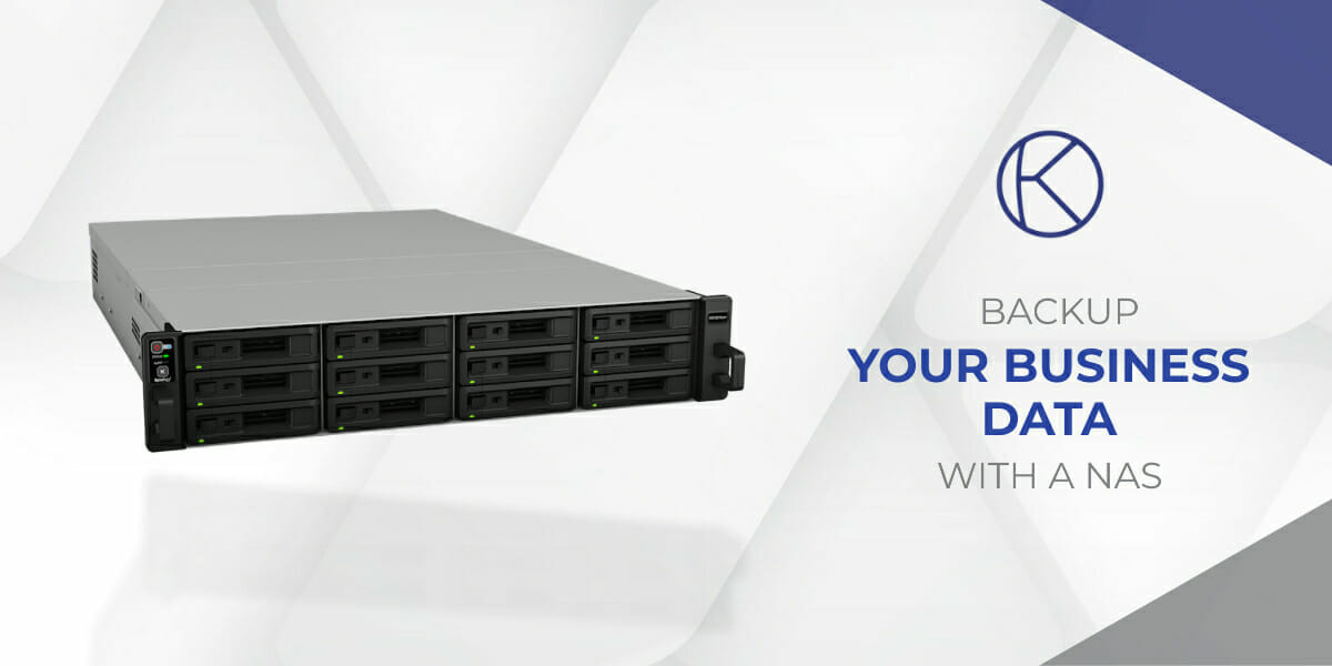 A NAS device for business data backup